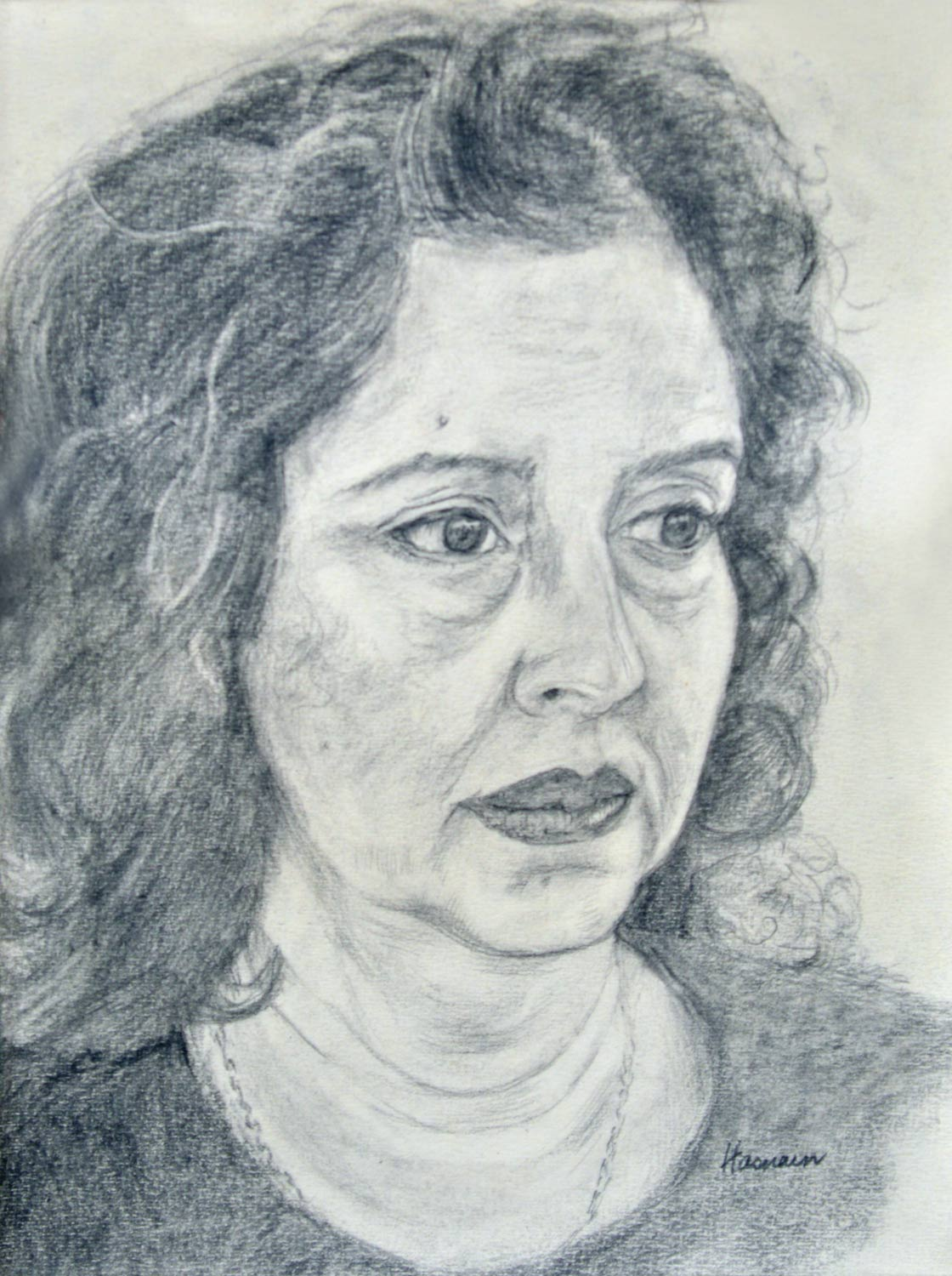 Self Portrait, 9X12 Inches, Graphite On Paper, 2012